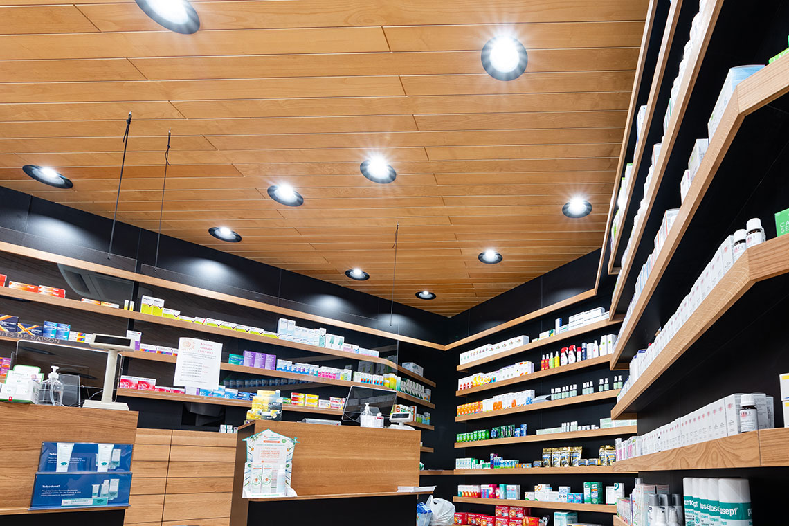 planification d'éclairage d'un pharmacie, magasin boutique à Fribourg