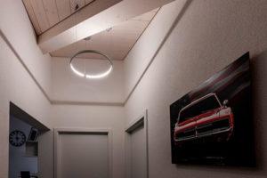 planification d'éclairage avec un luminaire circulaire