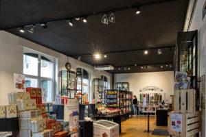 planification d'éclairage intérieur d'un magasin boutique de chocolats à Fribourg