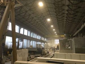 planification d'éclairage d'une halle industriel