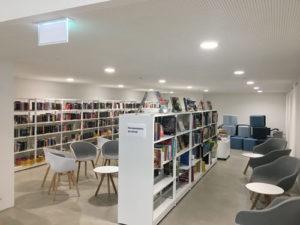 planification de l'éclairage d'une bibliothèque public canton de Vaud