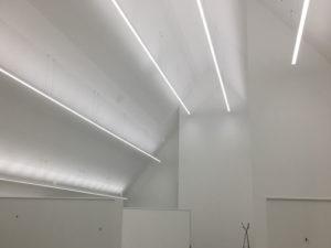 planification d'éclairage led intérieur design pour sous-toiture