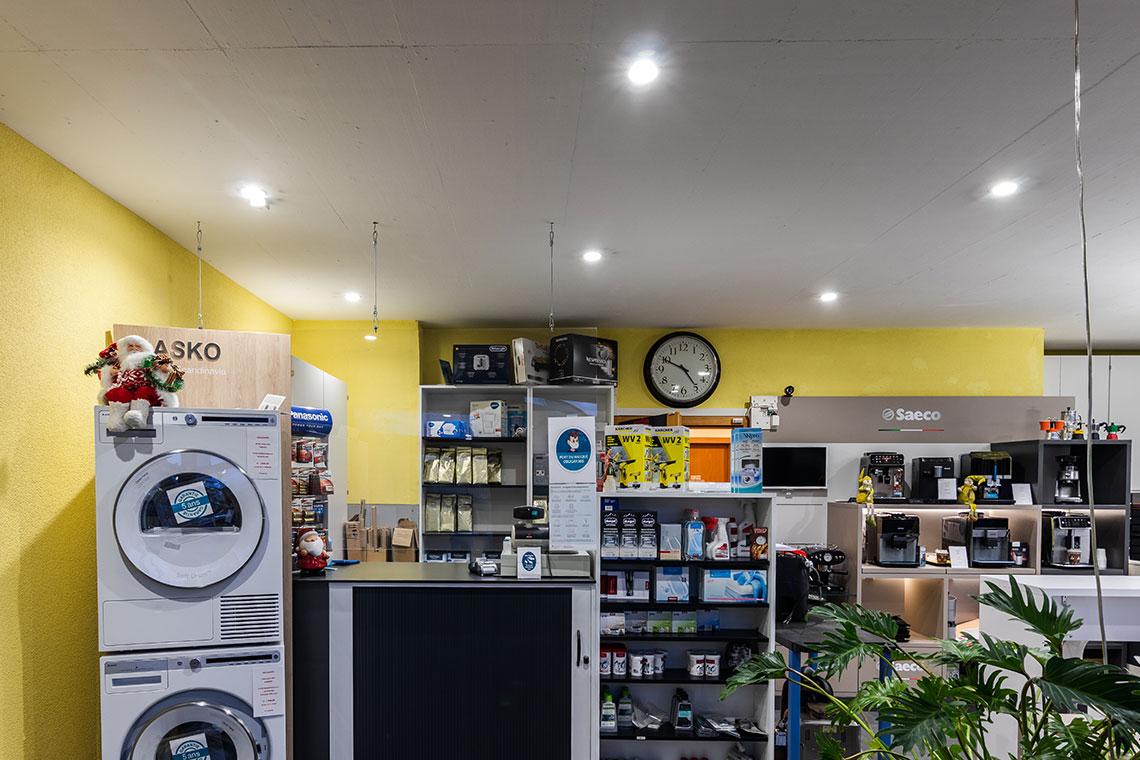 éclairage intérieur showroom lampe encastrée
