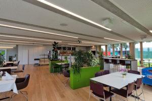 concept d'éclairage de restaurant cafétaria